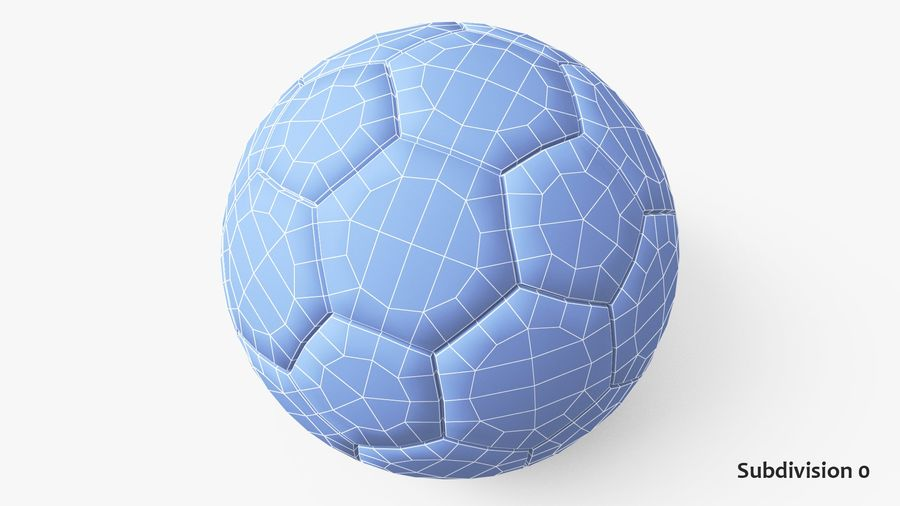 Generic Soccer Balls Collection royalty-free 3d model - Preview no. 25