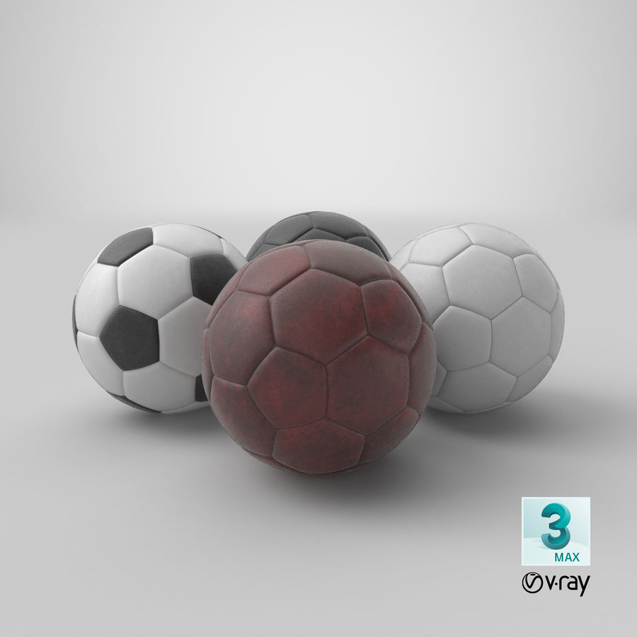 Generic Soccer Balls Collection royalty-free 3d model - Preview no. 41