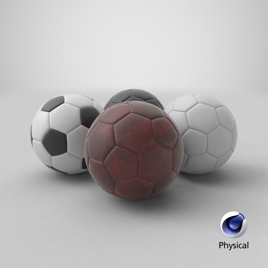 Generic Soccer Balls Collection royalty-free 3d model - Preview no. 35