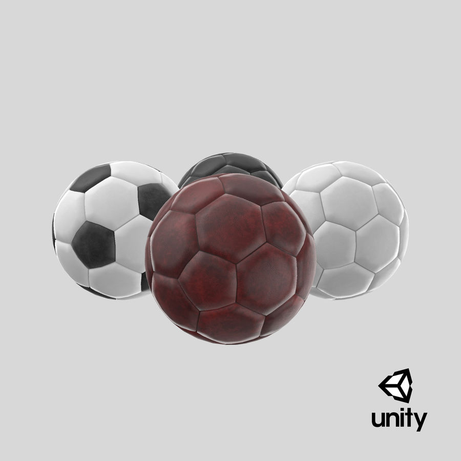 Generic Soccer Balls Collection royalty-free 3d model - Preview no. 37