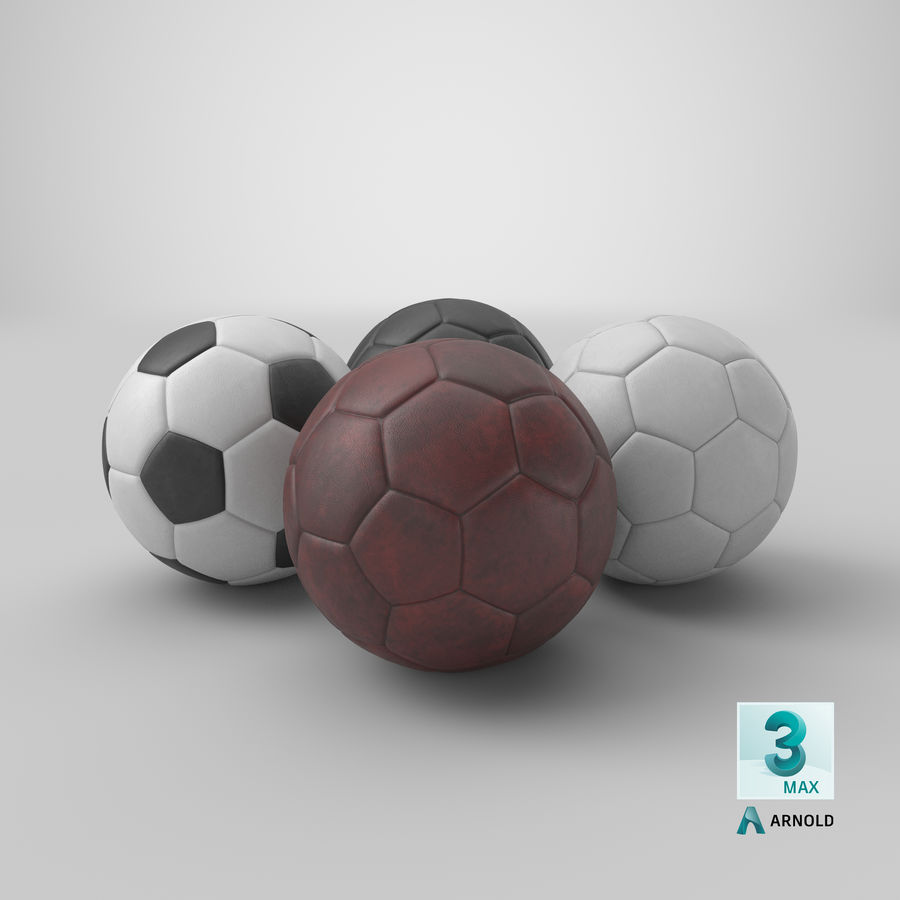 Generic Soccer Balls Collection royalty-free 3d model - Preview no. 39