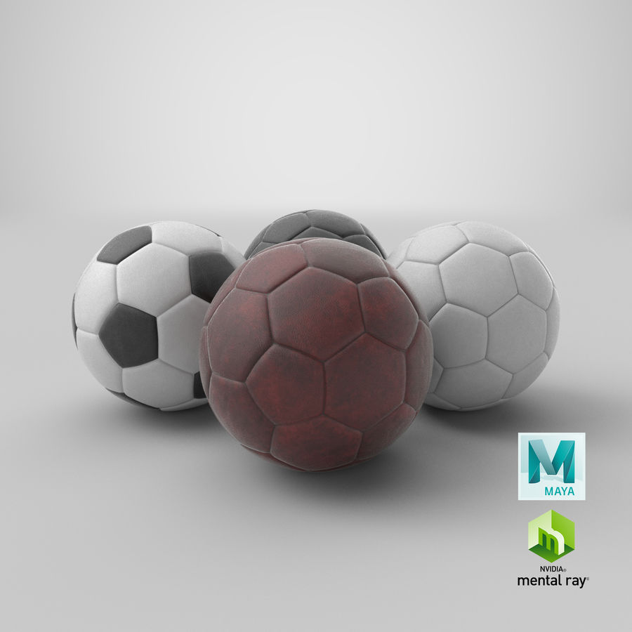 Generic Soccer Balls Collection royalty-free 3d model - Preview no. 43