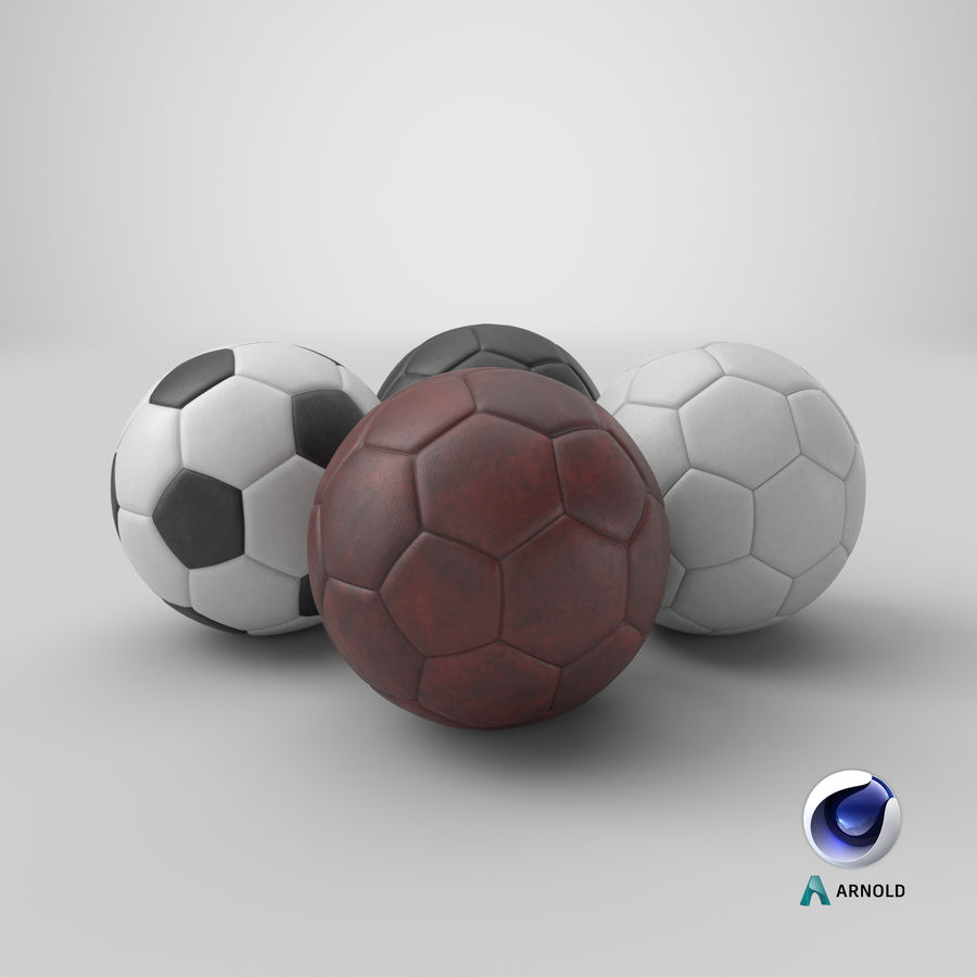 Generic Soccer Balls Collection royalty-free 3d model - Preview no. 36