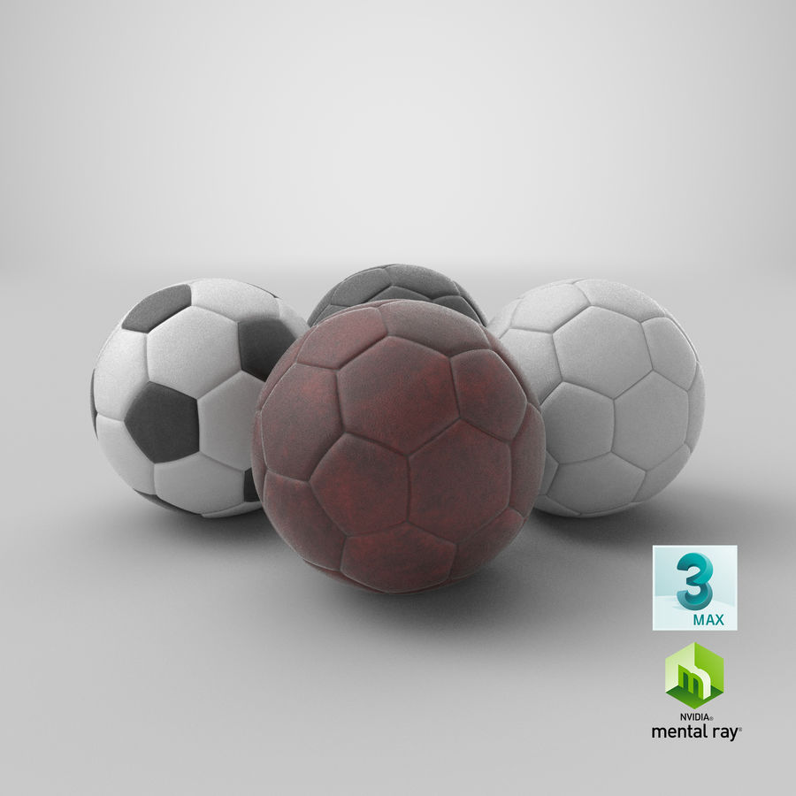 Generic Soccer Balls Collection royalty-free 3d model - Preview no. 40