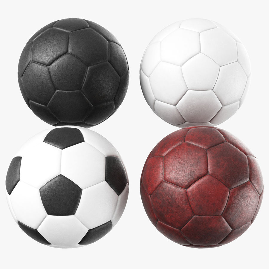 Generic Soccer Balls Collection royalty-free 3d model - Preview no. 1