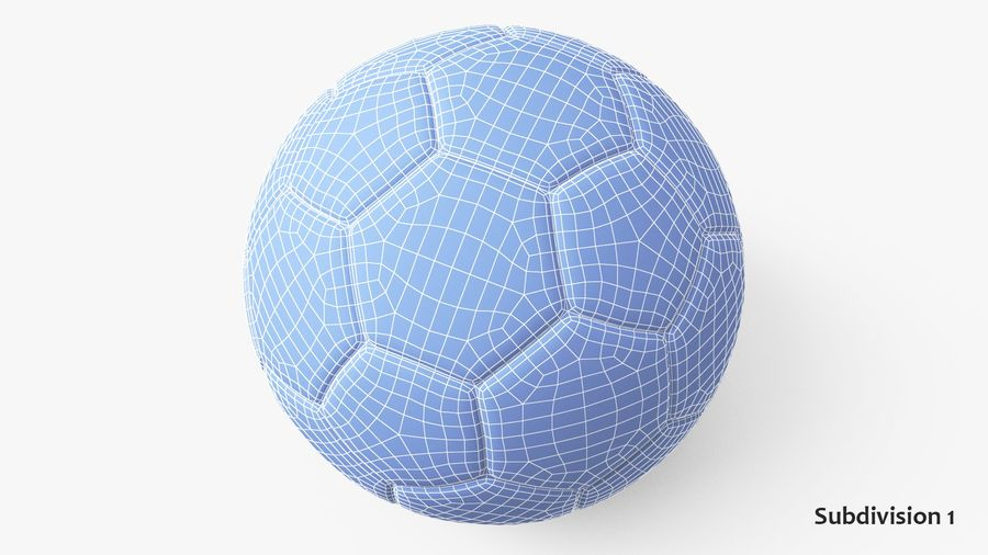 Generic Soccer Balls Collection royalty-free 3d model - Preview no. 26