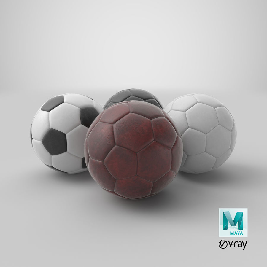 Generic Soccer Balls Collection royalty-free 3d model - Preview no. 44