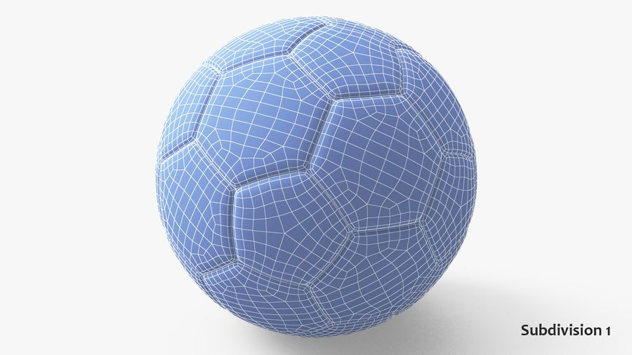 Generic Soccer Balls Collection royalty-free 3d model - Preview no. 24
