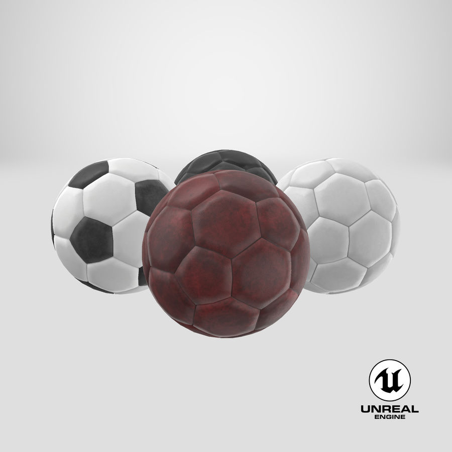 Generic Soccer Balls Collection royalty-free 3d model - Preview no. 38