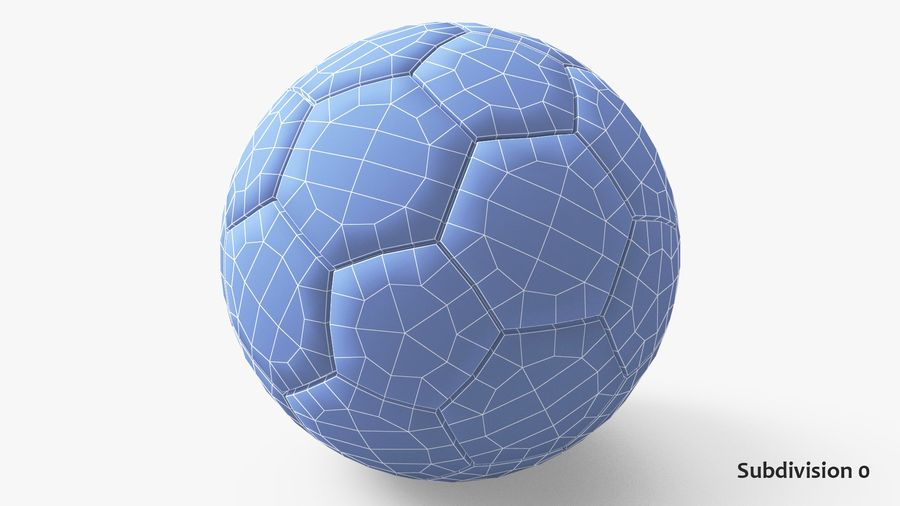 Generic Soccer Balls Collection royalty-free 3d model - Preview no. 23