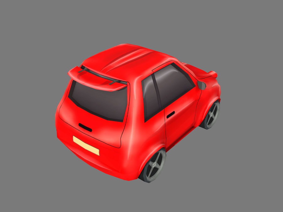 Coche de dibujos animados royalty-free modelo 3d - Preview no. 4