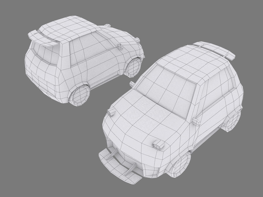 Coche de dibujos animados royalty-free modelo 3d - Preview no. 7