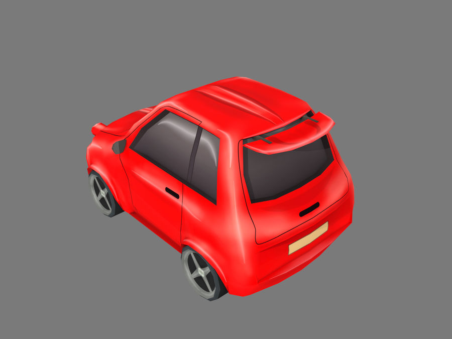 Coche de dibujos animados royalty-free modelo 3d - Preview no. 3