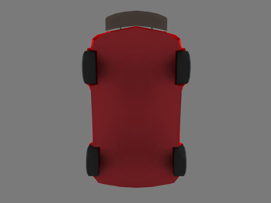 Coche de dibujos animados royalty-free modelo 3d - Preview no. 6