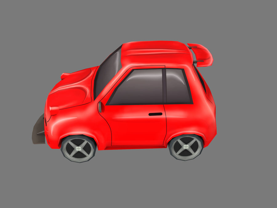 Coche de dibujos animados royalty-free modelo 3d - Preview no. 2