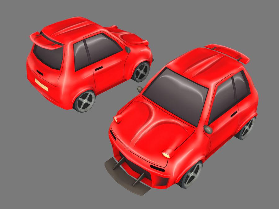 Cartoon Car royalty-free 3d model - Preview no. 8