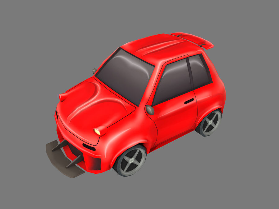Coche de dibujos animados royalty-free modelo 3d - Preview no. 1