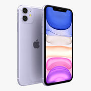 Apple iPhone 11 Roxo 3d model