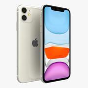 Apple iPhone 11 Branco 3d model