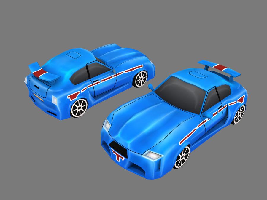 Çizgi Araba royalty-free 3d model - Preview no. 8