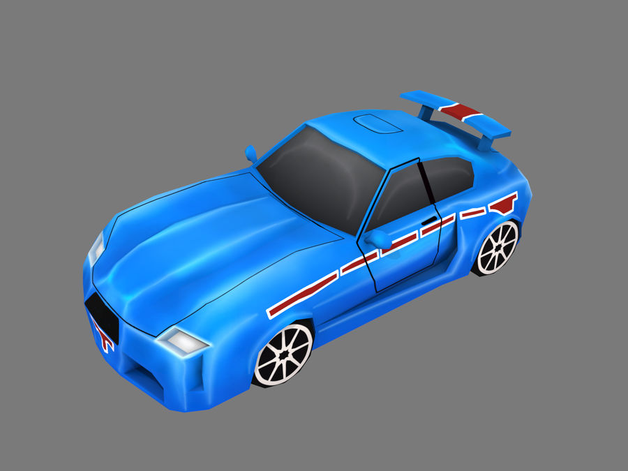 Çizgi Araba royalty-free 3d model - Preview no. 1