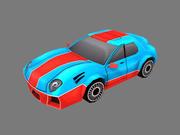 漫画車 3d model