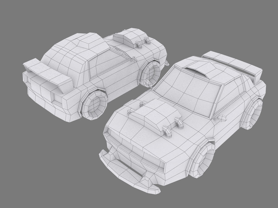 Cartoon Car royalty-free 3d model - Preview no. 7