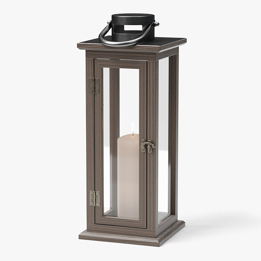 Candle Lantern 01 royalty-free 3d model - Preview no. 1