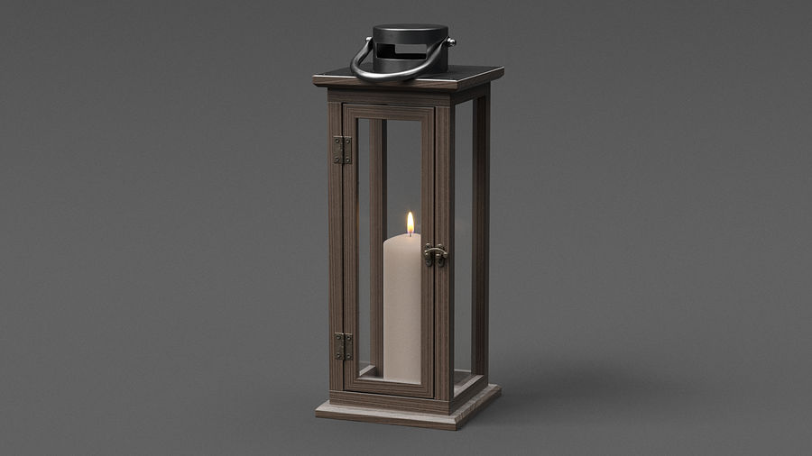 Candle Lantern 01 royalty-free 3d model - Preview no. 2