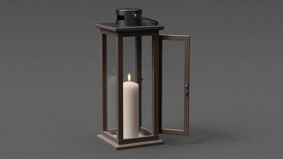 Candle Lantern 01 royalty-free 3d model - Preview no. 3