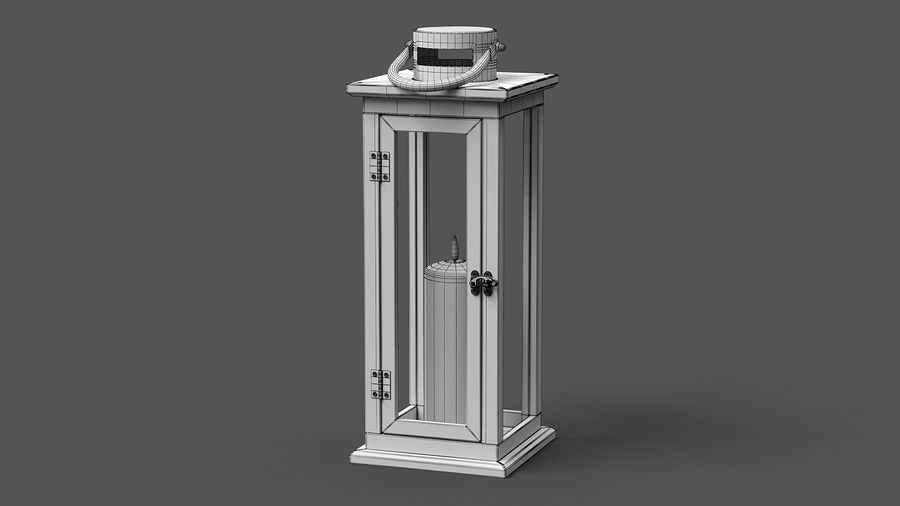 Candle Lantern 01 royalty-free 3d model - Preview no. 9