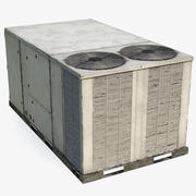 2 Vents Rooftop Air Conditioning System Ruste 3d model