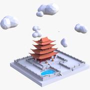 Świątynia buddyjska (Low Poly) 3d model