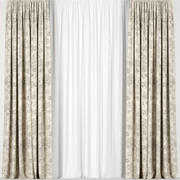 Beige curtains 3d model