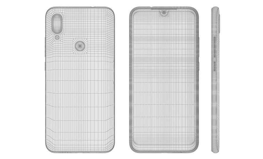 Xiaomi Redmi 7 Comet Blue royalty-free 3d model - Preview no. 20