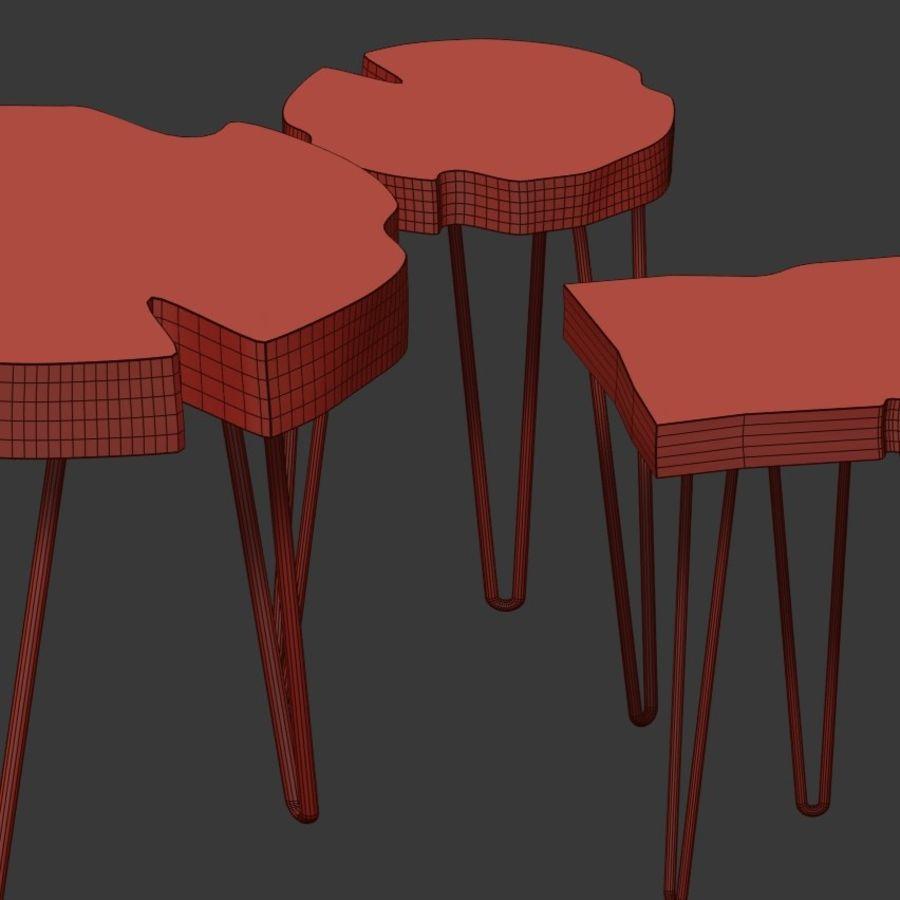 Zestaw stolików kawowych wykonanych z płyty royalty-free 3d model - Preview no. 7