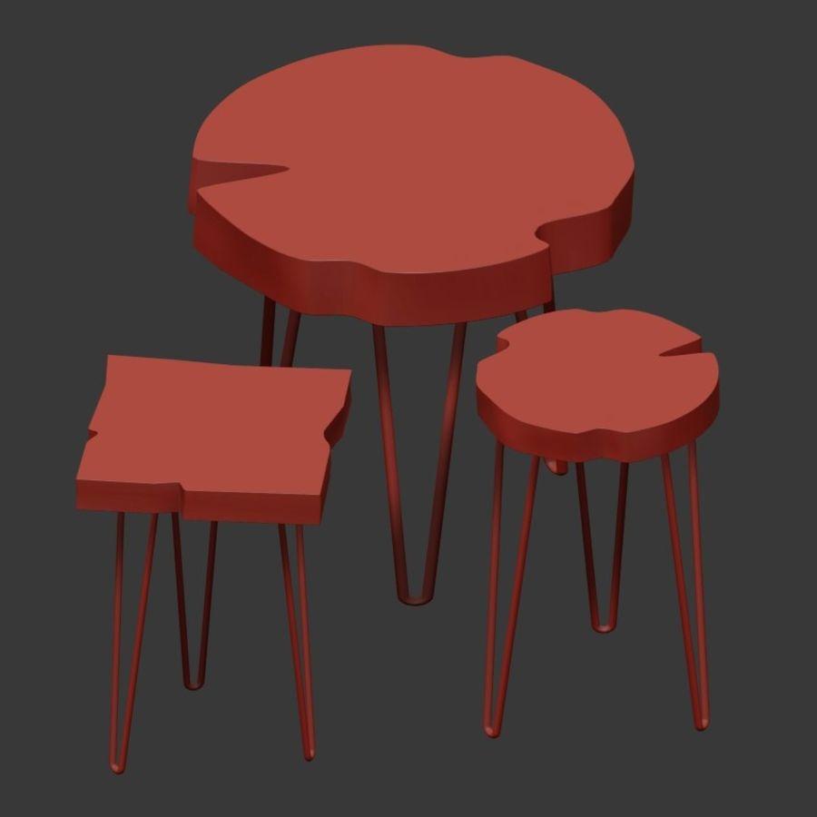 Zestaw stolików kawowych wykonanych z płyty royalty-free 3d model - Preview no. 5