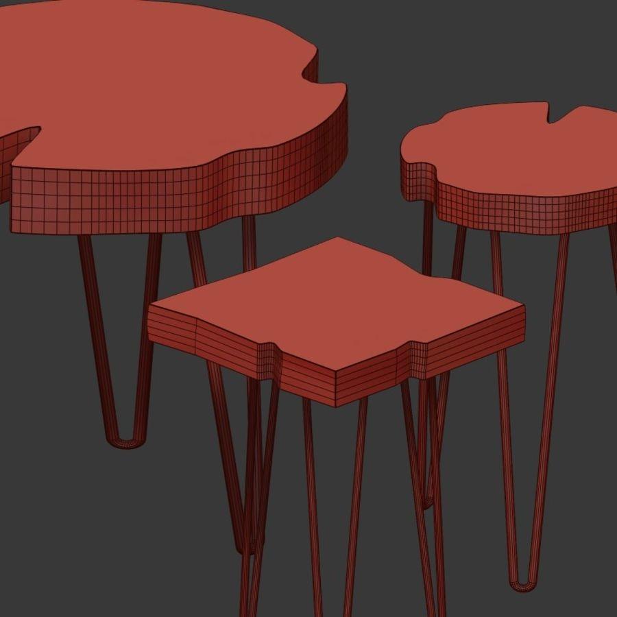 Zestaw stolików kawowych wykonanych z płyty royalty-free 3d model - Preview no. 6