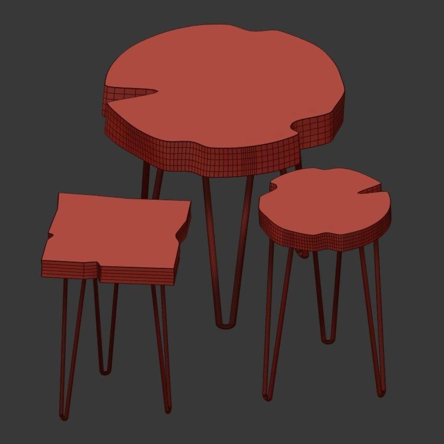 Zestaw stolików kawowych wykonanych z płyty royalty-free 3d model - Preview no. 4