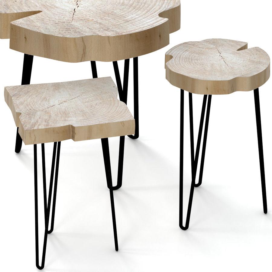Zestaw stolików kawowych wykonanych z płyty royalty-free 3d model - Preview no. 2