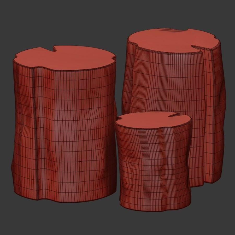 切り株で作られたコーヒーテーブル royalty-free 3d model - Preview no. 4