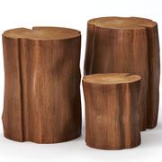 Coffee tables made of stumps 3d model