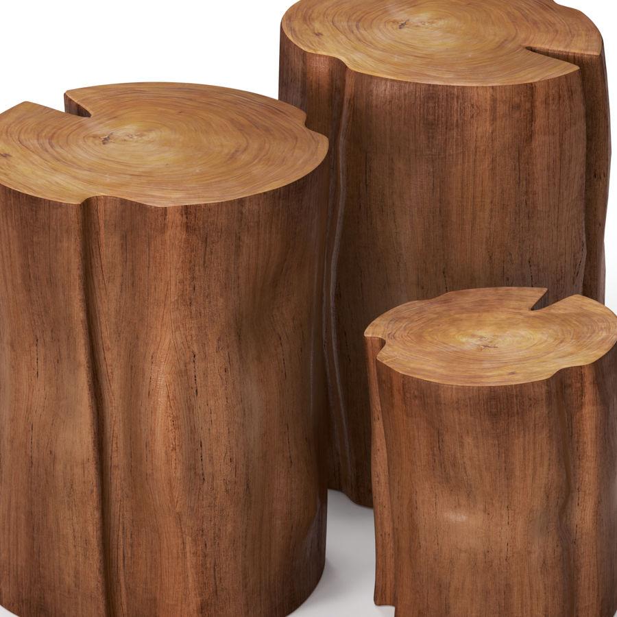切り株で作られたコーヒーテーブル royalty-free 3d model - Preview no. 2