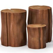 切り株で作られたコーヒーテーブル 3d model