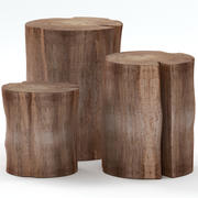 A collection of stump tables 3d model