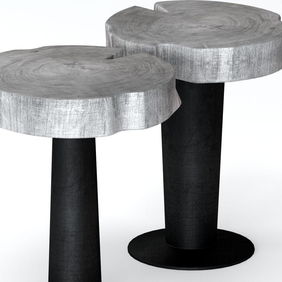 灰色の切り株のコーヒーテーブル royalty-free 3d model - Preview no. 2
