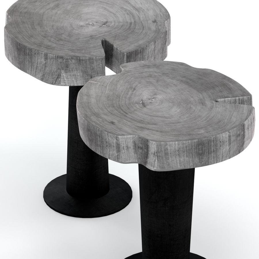 灰色の切り株のコーヒーテーブル royalty-free 3d model - Preview no. 3