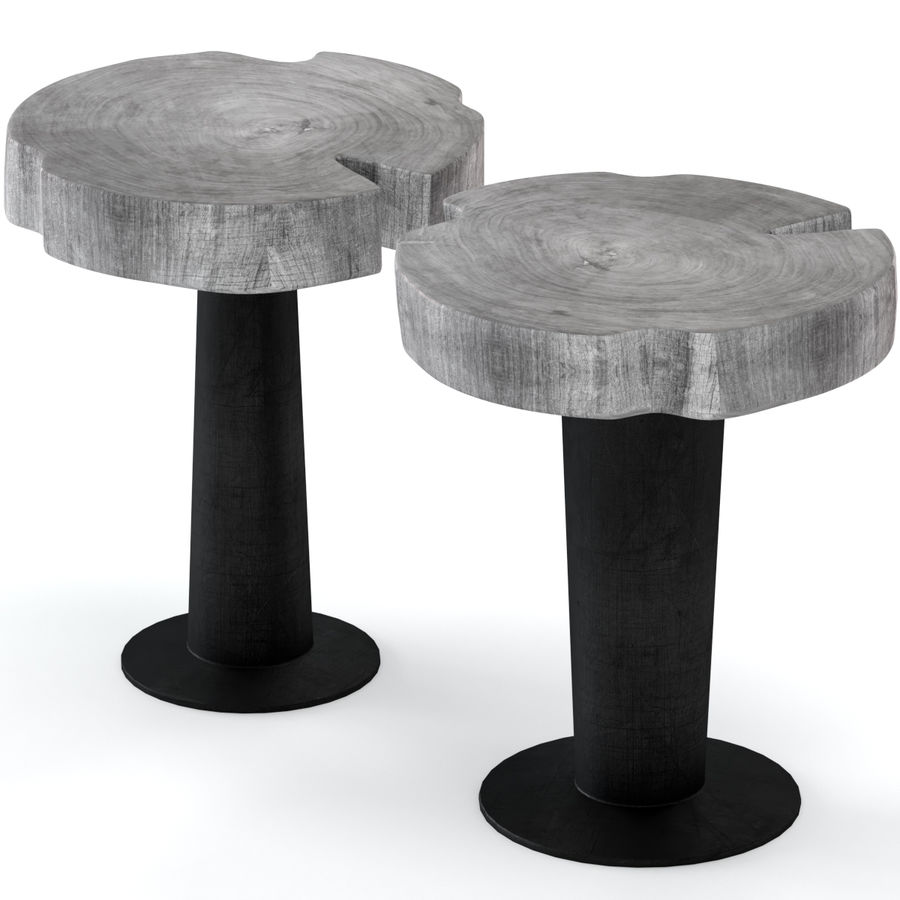 灰色の切り株のコーヒーテーブル royalty-free 3d model - Preview no. 1