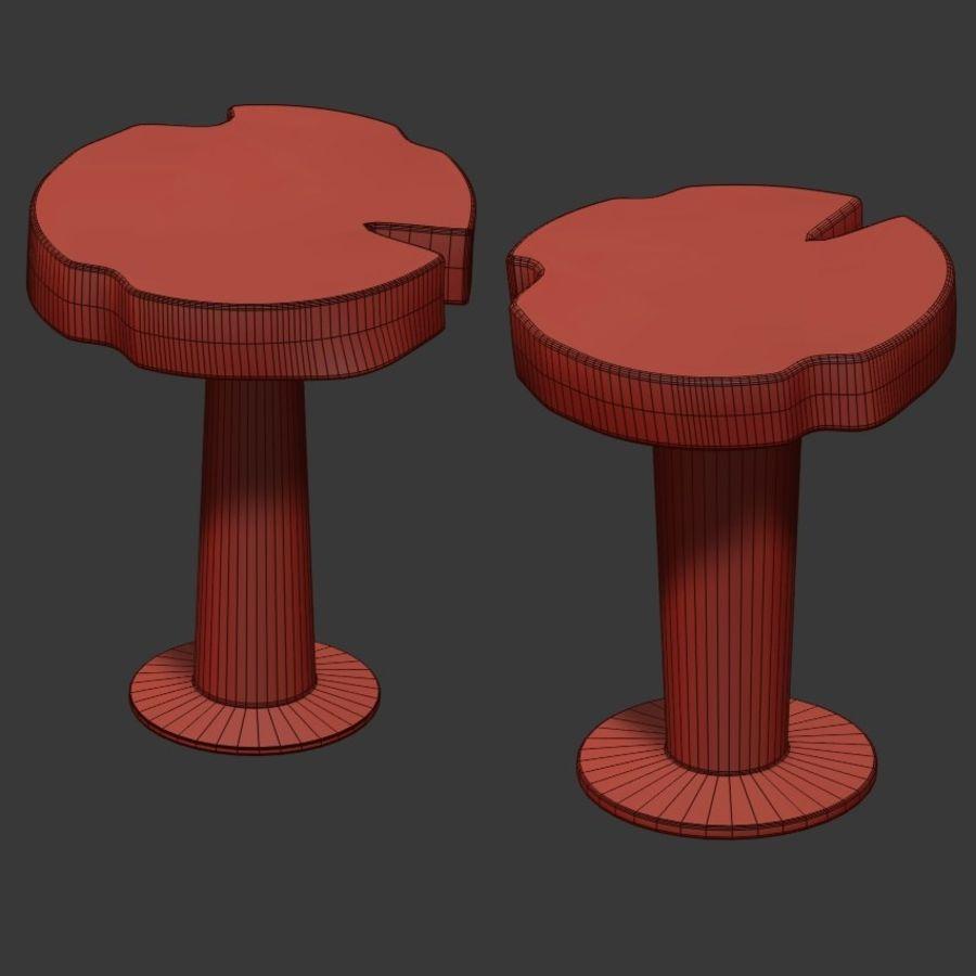 灰色の切り株のコーヒーテーブル royalty-free 3d model - Preview no. 4