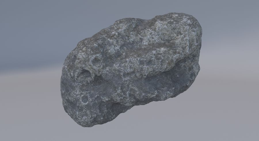 Asteroid royalty-free 3d model - Preview no. 3